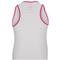 LUCKY IN LOVE GIRLS LOVE LACE TENNIS TANK WHITE/SH PK