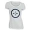 LACOSTE WOMENS SHORT SLV GRAPHIC TENNIS TEE WH