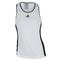 ADIDAS WOMENS COURT TENNIS TANK WHITE/BLACK FRONT