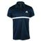 ADIDAS MENS COURT TENNIS POLO COLL NAVY/WH FRONT