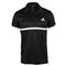 ADIDAS MENS COURT TENNIS POLO BLACK/WH FRONT