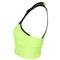 LUCKY IN LOVE WOMENS HIGH NECK TENNIS BRALETTE NEON YL