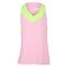 Lucky in Love GIRLS V-NECK RACERBACK TENNIS TANK pink/green front