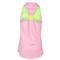 Lucky in Love GIRLS V-NECK RACERBACK TENNIS TANK pink/green back